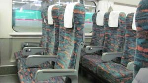 Shinkansen seats facing same way